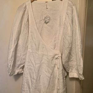 Free People white summer dress